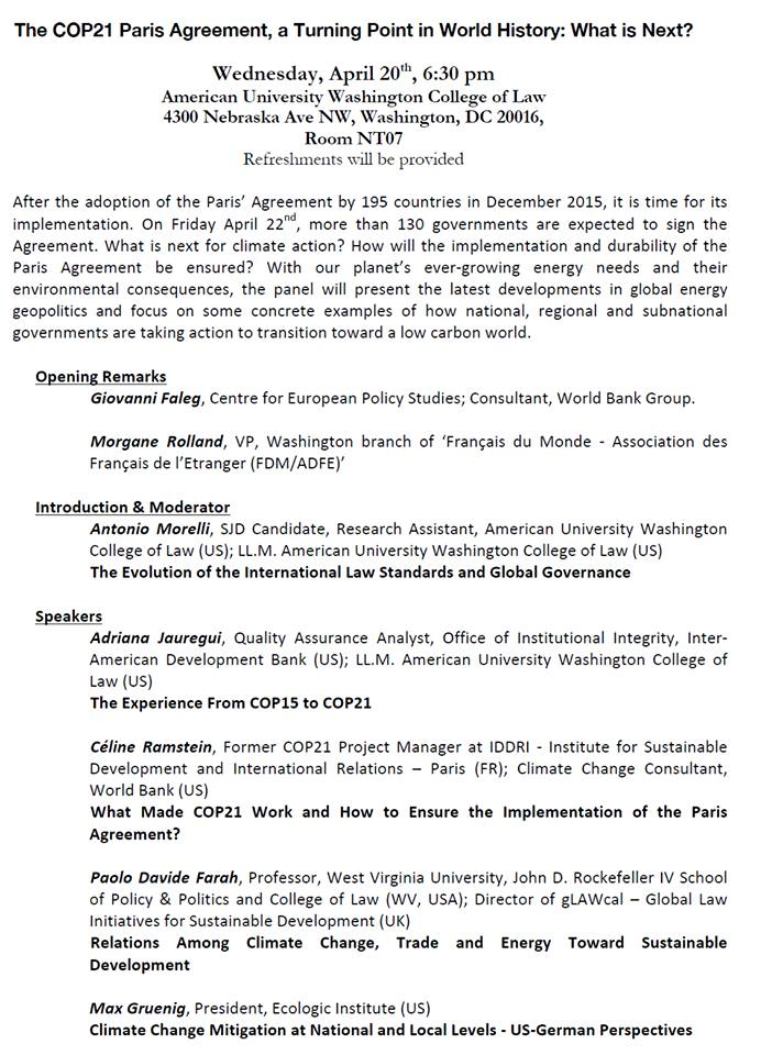conférence COP 21